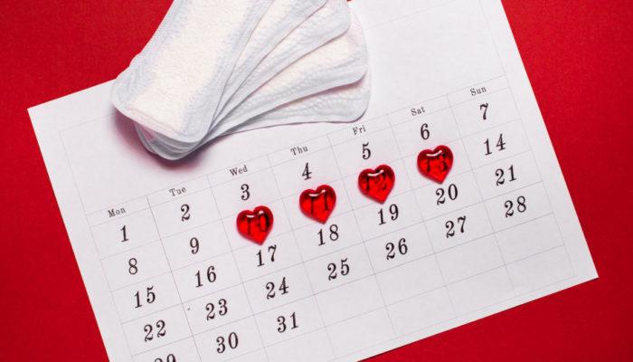 kalendarz miesiączki - fotografia